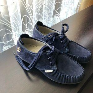 New super adorable suede boys shoes